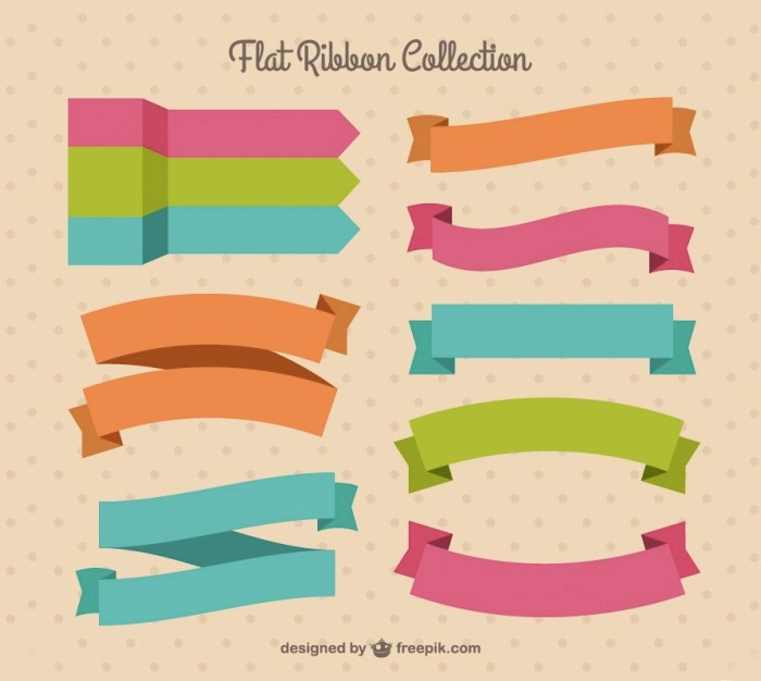flat-ribbons-vector