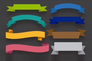 Free Ribbons PSD & Vector Files
