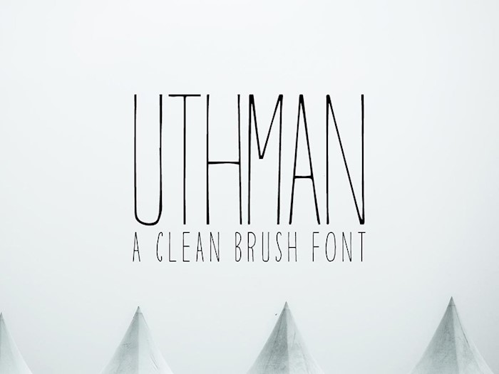 free-uthman-brush-thin-font