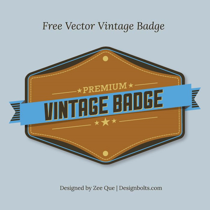 free-vector-premium-vintage-badge-weekly-gift