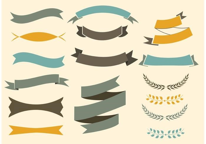 free-vector-ribbons-set-yellow