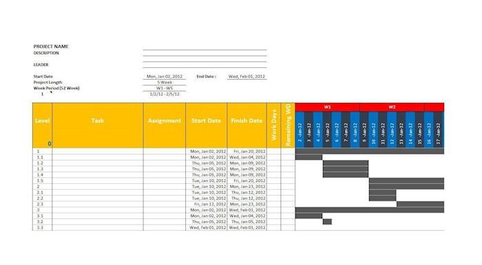 grantt chart template 11