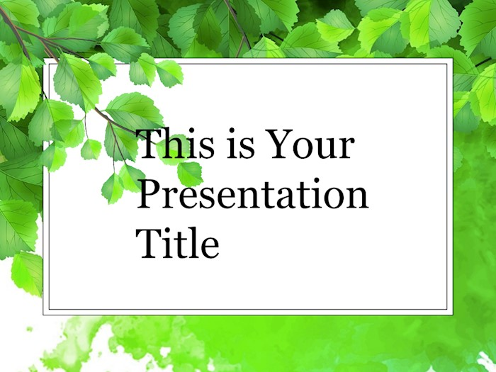 green-branch-free-google-slides-theme