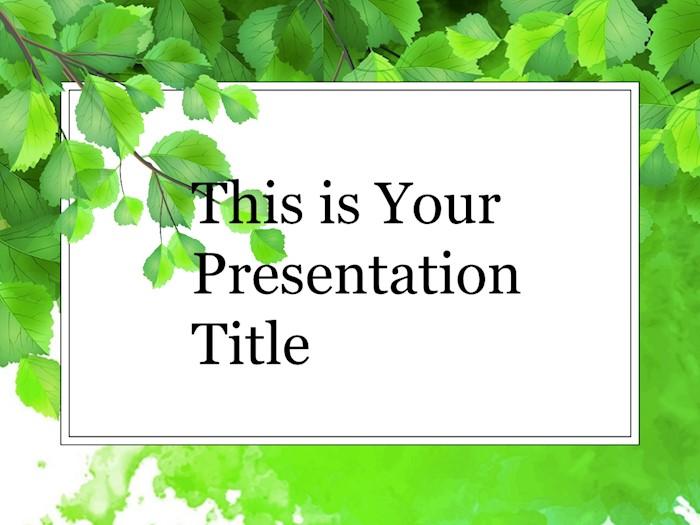 green-branch-free-google-slides-theme