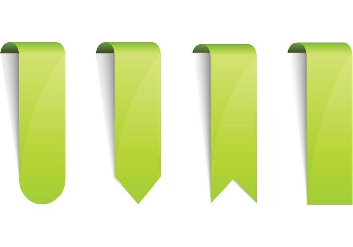 green-free-web-ribbons-vectors