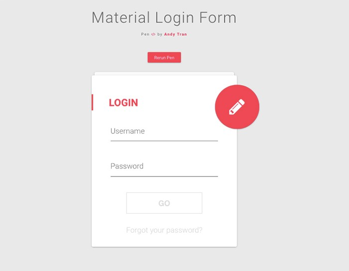 html-material-login-form