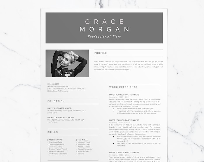 one-page-resume-template-with-photo-cv