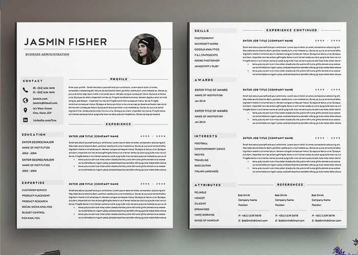 professional-2-page-resume-template-cv