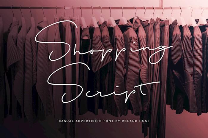 shopping-script-font