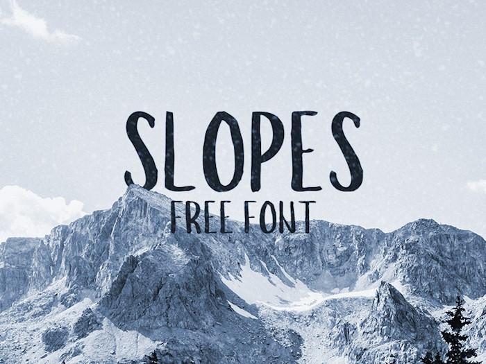 slopes-font