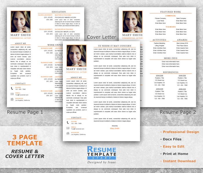 three-pages-resume-actor