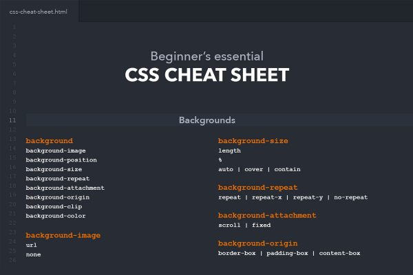 Best HTML & CSS Cheat Sheets